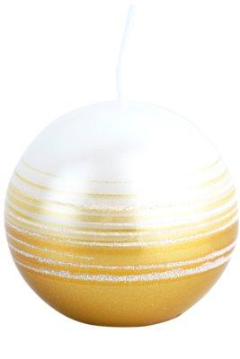 Unipar Tonnet White-Gold dekoratívna sviečka   (Sphere 60)
