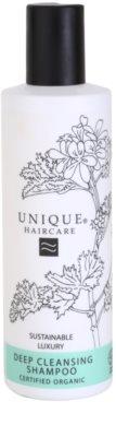 Unique Hair Care champô de limpeza profunda para cabelo