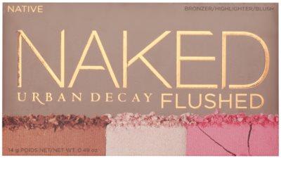 Urban Decay Naked Flushed paleta na kontury obličeje 2