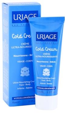 Uriage 1érs Soins Bébés creme nutritivo para corpo e rosto 1