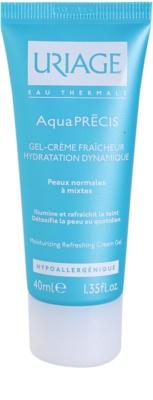 Uriage AquaPRÉCIS crema hidratante con textura de gel para pieles normales y mixtas