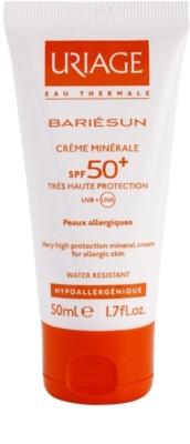 Uriage Bariésun mineralisierende schützende Creme für das Gesicht und Körper SPF 50+