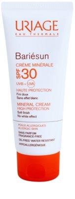 Uriage Bariésun crema protectora mineral para rostro y cuerpo SPF 30