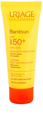 Uriage Bariésun loción protectora para rostro y cuepro de textura extra suave SPF 50+
