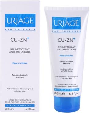 Uriage Cu-Zn+ upokojujúci čistiaci gél na popraskanú pokožku 1
