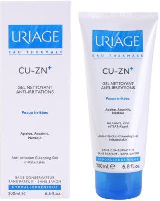 Uriage Cu-Zn+ gel calmant de curatare pe pielea crapata 1