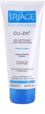 Uriage Cu-Zn+ gel calmant de curatare pe pielea crapata