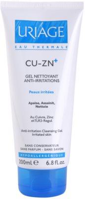 Uriage Cu-Zn+ gel de limpeza apaziguador para pele rachada