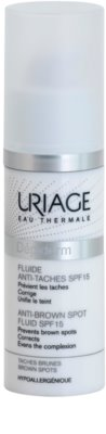 Uriage Dépiderm Fluid gegen Pigmentflecken SPF 15