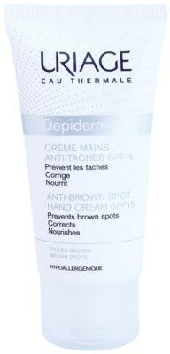 Uriage Dépiderm Creme de mãos contra manchas de pigmentação SPF 15