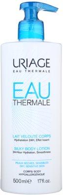 Uriage Eau Thermale leite corporal com efeito sedoso para peles secas e sensíveis