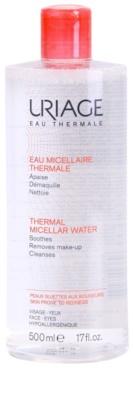 Uriage Eau Micellaire Thermale agua micelar limpiadora para pieles sensibles con tendencia a las rojeces