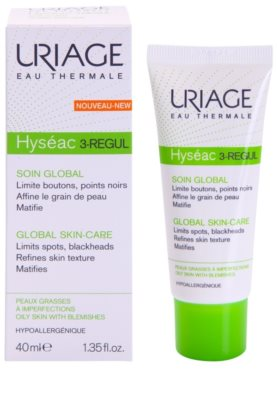 Uriage Hyséac 3-Regul матуючий крем від чорних цяток 1