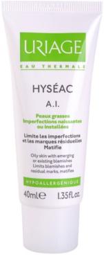 Uriage Hyséac A.I. creme para aliviar os sintomas inflamatórios do acne