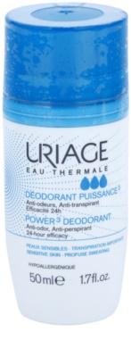 Uriage Hygiène desodorante roll-on  anti-manchas amarillas y blancas