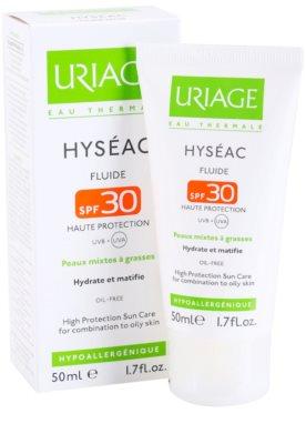 Uriage Hyséac mattosító folyadék hidratáló hatással SPF 30 1