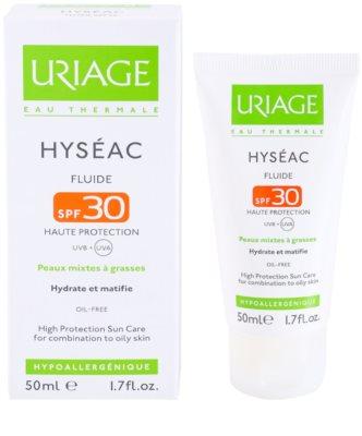 Uriage Hyséac mattosító folyadék hidratáló hatással SPF 30 2