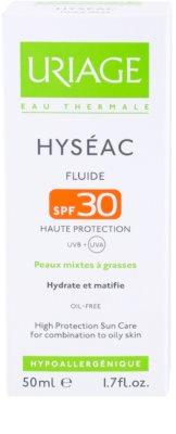 Uriage Hyséac mattosító folyadék hidratáló hatással SPF 30 3