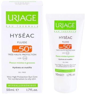 Uriage Hyséac matující fluid s hydratačním účinkem SPF 50+ 2