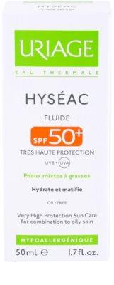Uriage Hyséac matující fluid s hydratačním účinkem SPF 50+ 3