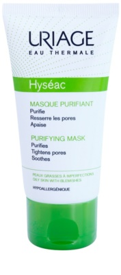 Uriage Hyséac mascarilla facial limpiadora y calmante para cerrar los poros