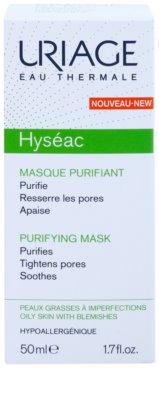 Uriage Hyséac máscara facial de limpeza apaziguador fechar os  poros 2