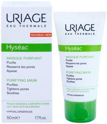 Uriage Hyséac máscara facial de limpeza apaziguador fechar os  poros 1