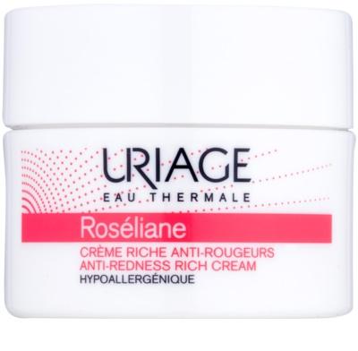 Uriage Roséliane crema de día nutritiva  para pieles sensibles con tendencia a las rojeces