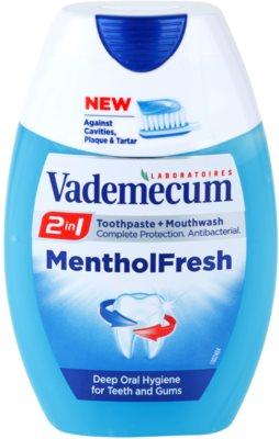 Vademecum 2 in1 Menthol Fresh pasta de dinti + apa de gura intr-unul singur