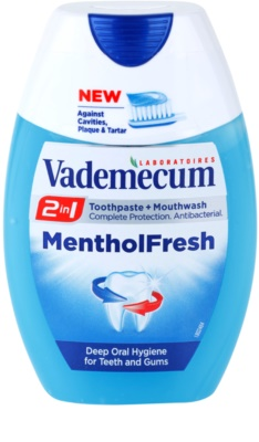 Vademecum 2 in1 Menthol Fresh pasta dentífrica + elixir bucal em um