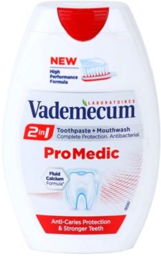 Vademecum 2 in1 Pro Medic pasta de dinti + apa de gura intr-unul singur