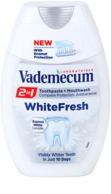 Vademecum 2 in1 White Fresh zubní pasta + ústní voda v jednom