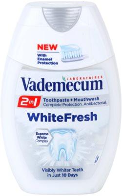 Vademecum 2 in1 White Fresh зубна паста + рідина для полоскання порожнини рота в одному