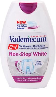Vademecum 2 in1 Non-Stop White pasta de dientes + enjuague bucal en un solo producto