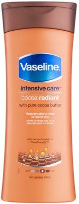 Vaseline Cocoa Radiant leite corporal hidratante com manteiga de cacau