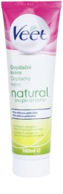 Veet Natural Inspirations крем за депилация  за чувствителна кожа