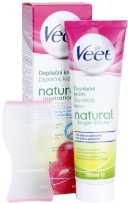 Veet Natural Inspirations крем за депилация  за чувствителна кожа 1