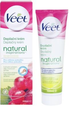 Veet Natural Inspirations крем за депилация  за чувствителна кожа 2