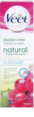 Veet Natural Inspirations szőrtelenítő krém az érzékeny bőrre 3