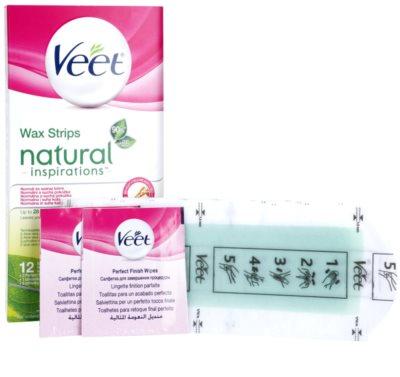 Veet Natural Inspirations Enthaarungswachsstreifen für normale und trockene Haut 2