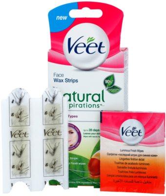 Veet Wax Strips Natural Inspirations™ bandas de cera depilatoria para rostro con aceite de argán 1