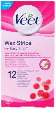 Veet Wax Strips bandas de cera depilatoria con manteca de karité y olor a frutos rojos