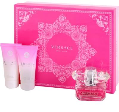 Versace Bright Crystal lotes de regalo