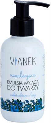 Vianek Moisturising почистваща емулсия за суха до чувствителна кожа