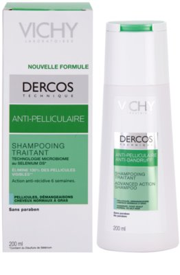 Vichy Dercos Anti-Dandruff sampon anti-matreata pentru par normal spre gras 1