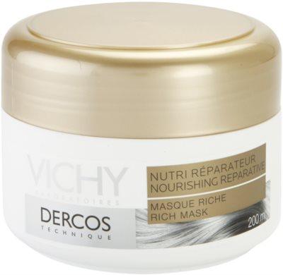 Vichy Dercos Nutri Reparateur vyživující maska pro suché a poškozené vlasy 1