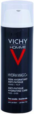 Vichy Homme Hydra-Mag C cuidado hidratante contra os sinais de cansaço do rosto e dos olhos