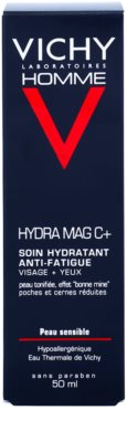 Vichy Homme Hydra-Mag C cuidado hidratante contra os sinais de cansaço do rosto e dos olhos 2