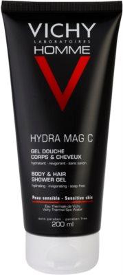 Vichy Homme Hydra-Mag C sprchový gel na tělo a vlasy