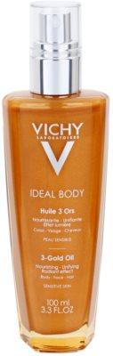 Vichy Ideal Body aceite con purpurina para rostro, cuerpo y cabello